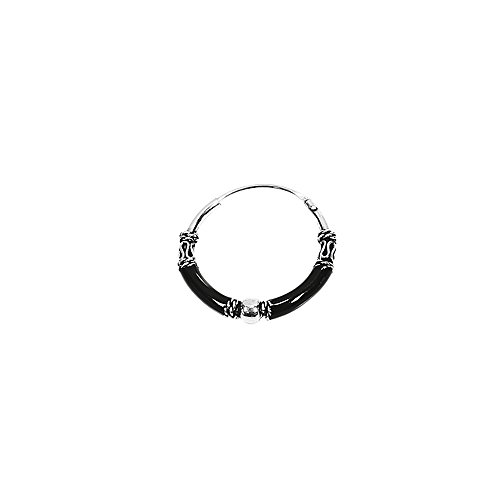 Nklaus 2x simple PLATA DE LEY 925 Celta Bali Negro Criollo Liana 19mm 40305