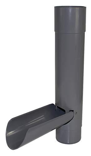 Preisvergleich Produktbild Funke Dachrinnen Wasserablaufklappe grau DN 75