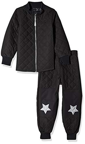 mikk-line Unisex baby DUVET thermo-set jas, zwart (Black 190), grootte fabrikant: 80