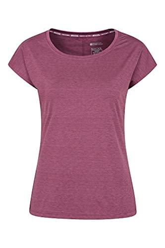 Mountain Warehouse Camiseta Holgada IsoCool Dynamic Panna para Mujer - Camiseta de Verano en Tejido de Secado rápido para Mujer, Top con Tratamiento Antibacteriano Rosa Oscuro 38