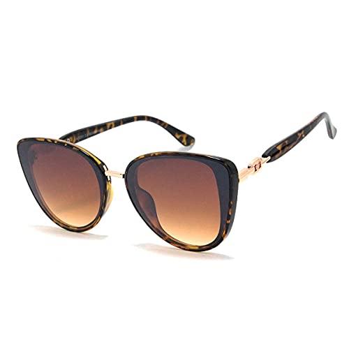 Óculos De Sol Feminino Gatinho Com Proteção Uv 400 Lb-201 Cor: Marrom-Tartaruga