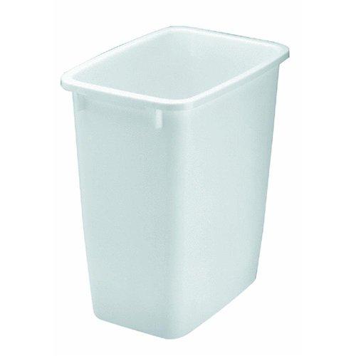 21 Quart Wastebasket in White