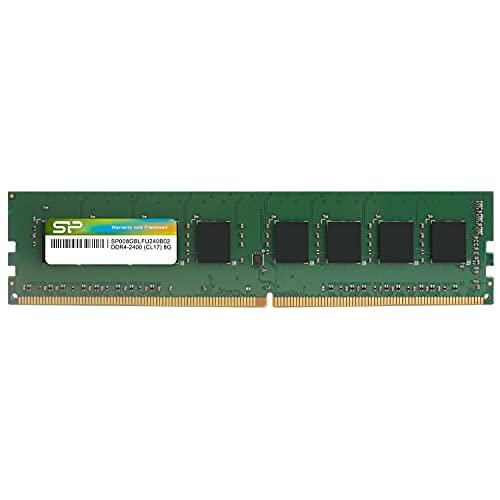 シリコンパワー デスクトップPC用メモリ DDR4-2400(PC4-19200) 8GB×1枚 288Pin 1.2V CL17 SP008GBLFU240B02