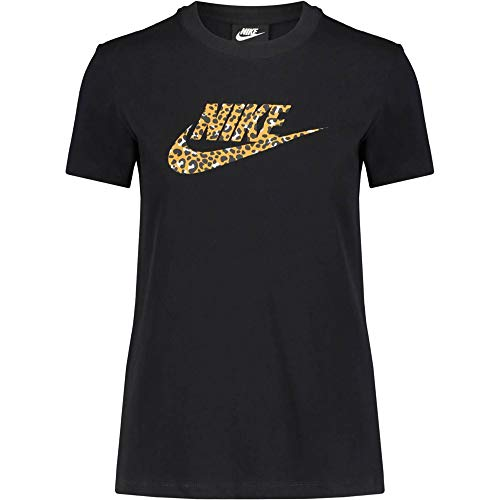 Nike Damen T-Shirt NSW La, Black/Black, M, CD4145
