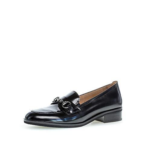 Gabor Damen Slipper, Frauen Mokassins, schluepfschuhe Freizeit leger schlupfhalbschuh Slip-on College Schuh weiblich,schwarz,41 EU / 7.5 UK