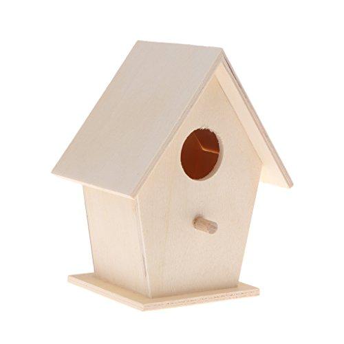 FXCO Vogelhaus Vogelnest Naturholz Haus Vogelnest DIY Kreative Runde Wand Papagei Vogelnest Hängenden Nistkasten Garten Deko