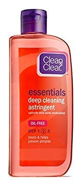 Clean & Clear Essentials Deep Cleaning Astringent 8 Ounce (Value Pack of 2)
