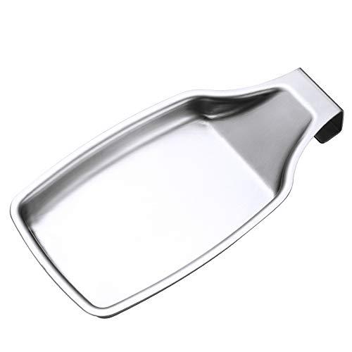 SIYI-XIU Porta Cucchiaio da Cucina Inossidabile 304 Cucchiaio Appoggia Cucchiaio in Acciaio per Spatole Spazzola, Coltello, Forchetta e Altri Utensili