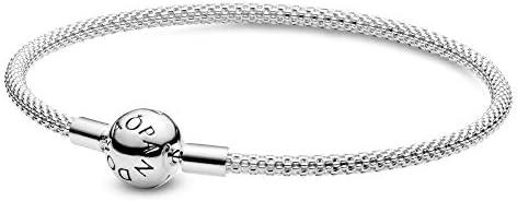 باندورا مجوهرات لحظات شبكة سحر الفضة الاسترليني سوار