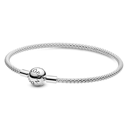 Pandora Damen Moments Mesh-Armband Sterling Silber 596543-17