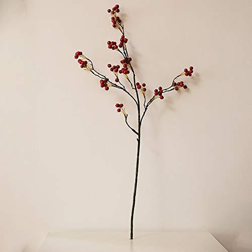 Kunstplanten Acacia rode bonen en bosbessenbonen, geschikt voor moderne woonkamer tv-kast op de vloer staande vaas bloem regeling decoratie