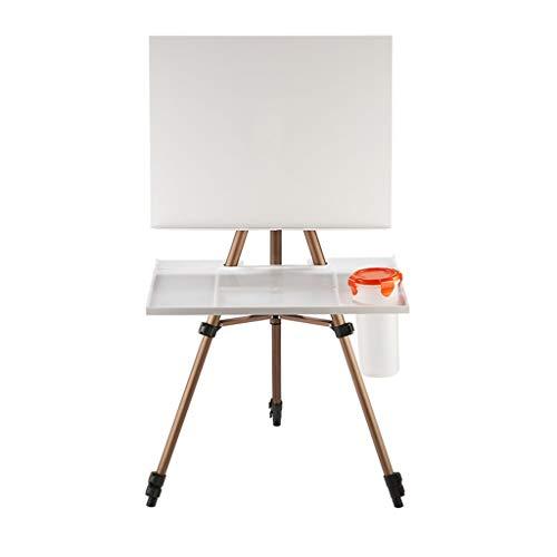 Multifunción Caballete, Caballete de Aluminio 37.5-135.5CM Adulto del niño de bosquejar Caballete, Incluyendo Paleta, Tablero de Dibujo, Bolsa de Transporte (Color : Brown, Size : 135.5CM)