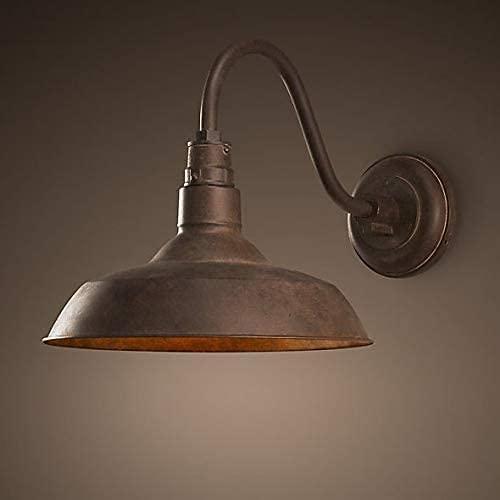 Dkdnjsk Industrial retro al aire libre cuello de ganso lámpara de pared interior al aire libre retro cuello de ganso lámpara de pared industrial loft cuello de pared lámpara de pared industrial estilo