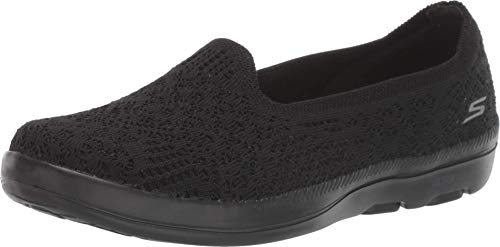 Skechers On-The-go Bliss, Zapatillas Mujer, Negro (Black Textile BBK), 37 EU