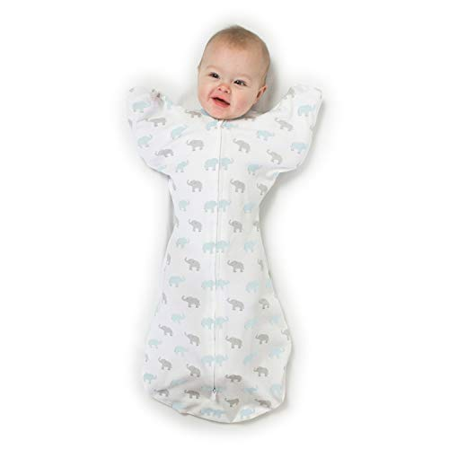 Product Image of the Amazing Baby Transitional Swaddle Sack with Arms Up Half-Length Sleeves and...