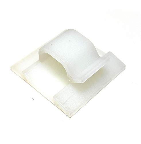 Mehrzweck-Kabel-Clips, selbstklebend, 50 Stück (8 mm, weiß)