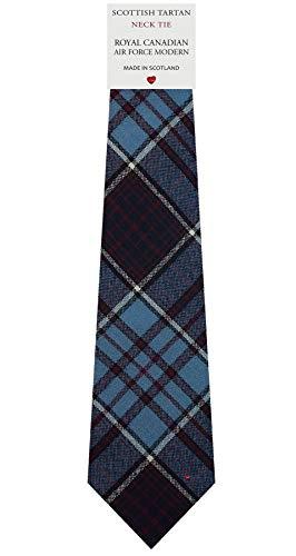 I Luv Ltd Cravate en Laine pour Homme Tissée et Fabriquée en Ecosse à Royal Canadian Air Force Modern Tartan