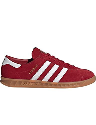 adidas Herren Hamburg Sneaker, Team Victory Red/Cloud White/Gum, 45 1/3 EU
