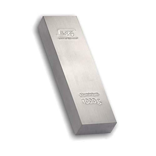 Fantástico lingote de 1 kg de Aluminio Puro (99,5%), bellam