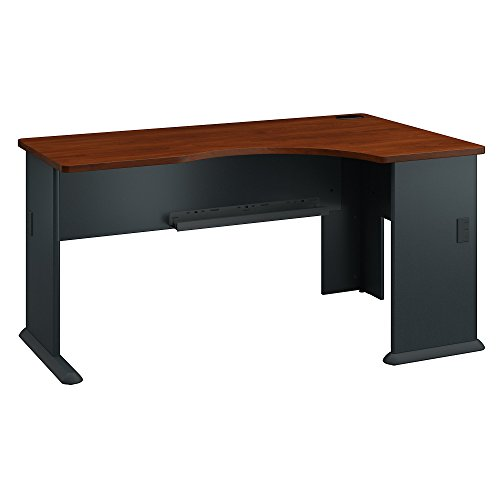 Bush Business Furniture Series A Right Corner Desk in Hansen Cherry and Galaxy