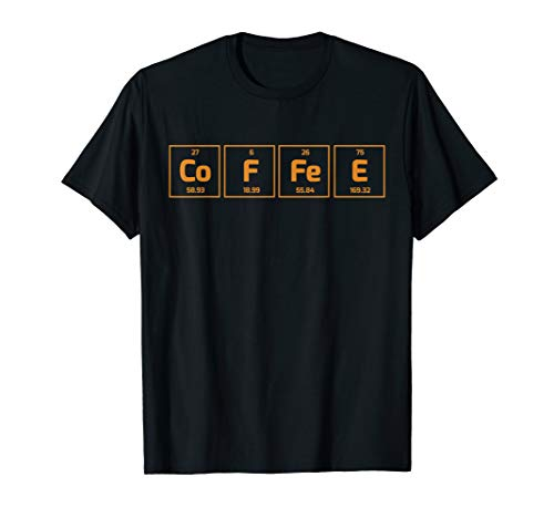 Coffee Science Element T-Shirt - Periodic Table Of Coffee
