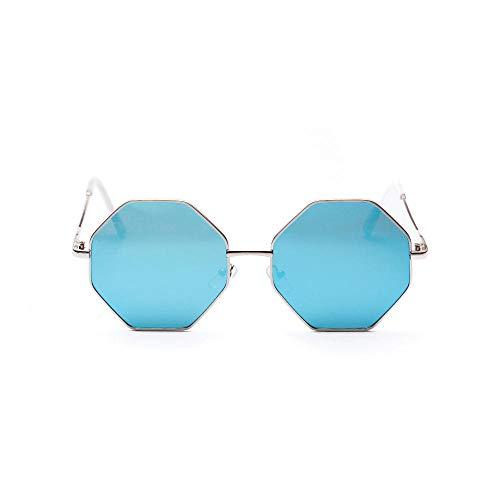 IRCATH Classic Polygon Gafas de Sol para Hombres y Mujeres Espejos Negros Color Cuadrado Lente Transparente UV400 Adecuado para la conducción de Playa y Senderismo-5 Adecuado para Conducir en la Play