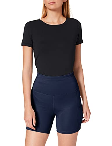 Marca Amazon - AURIQUE Shorts de Deporte Mujer, Azul (Navy), 40, Label:M