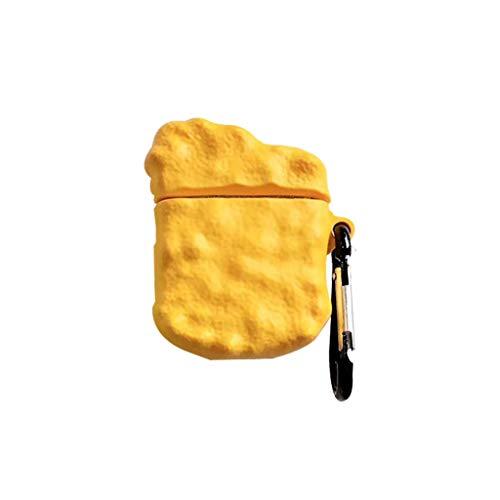 William-Lee 2019 Unieke Kip Zoete Zure Saus Patroon Siliconen Beschermende Draagtas Schokbestendige Cover Huid Met Lanyard Voor Airpods 1/2 Draadloze Bluetooth Oortelefoon Opladen Doos