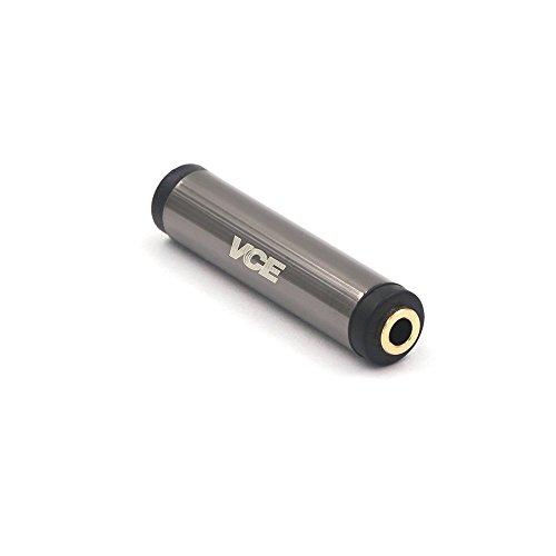 VCE 3.5mmメス to 3.5mmメス 中継アダプタ ステレオミニプラグ延長コネクタ オーディオケーブル接続 4極 (TRRS) メス-メス 金メッキ