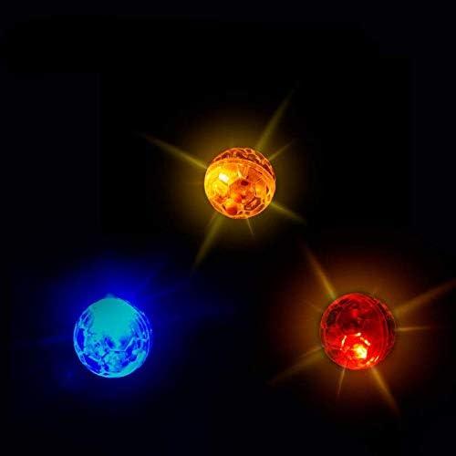 ATIN 3 unids Ghost Caza Movimiento Ilumina Bolas De Perro De Gato, Toque Activado Paranormal Equipo Mascota Bolas Juguete