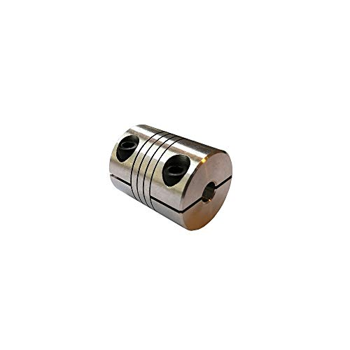 1pc Flexible Coupler D20 L25 Aluminium Alloy 4mm/5mm/6mm/6.35mm/7mm/8mm 20x25mm For the Motor Shaft Winding clamping screw coupling (Size : 6.35mmX6.35mm)