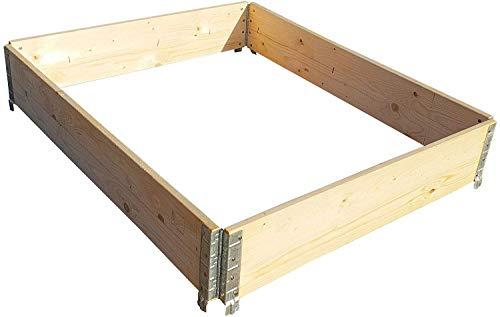 Holtaz Marco de madera de pino, ideal como bancal elevado para flores,...