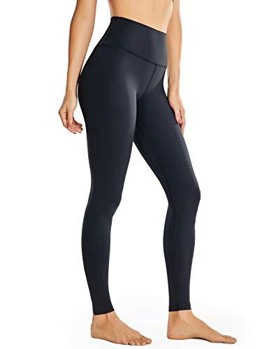 CRZ YOGA Donna Sportivi Pantaloni Vita Alta Fitness Leggings Palestra con Tasche Interna -71cm Nero-28 44