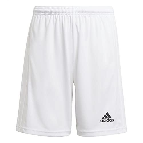 adidas Squad 21 SHO Y – Pantaloni Corti per Bambini, Bambino, Pantalone Corto, GN5765, Bianco/Bianco, 10 Anni