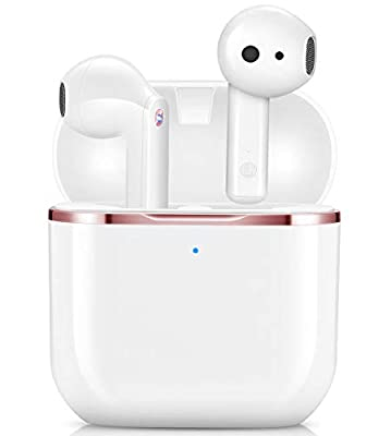 Wireless Earbuds, yobola Wireless Headphones, IPX5 Waterproof Wireless Earphones Touch Control, Bluetooth 5.1 Earbuds, 25 Hrs with USB-C Charging with Running/Fitness from yobola
