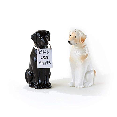 Black Labs Matter Salt & Pepper Shaker