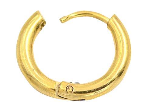Plus Nao(プラスナオ) フープピアス リングピアス 単品 1個売り 片耳 メンズ レディース アクセサリー シンプル おしゃれ シルバーカラー ゴールド 2.5×12mm