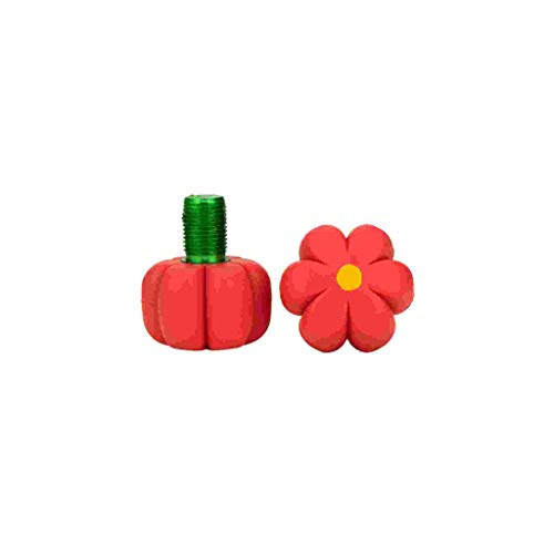 Roller Skates Toe Stops - Flowers (Red Hibiscus)