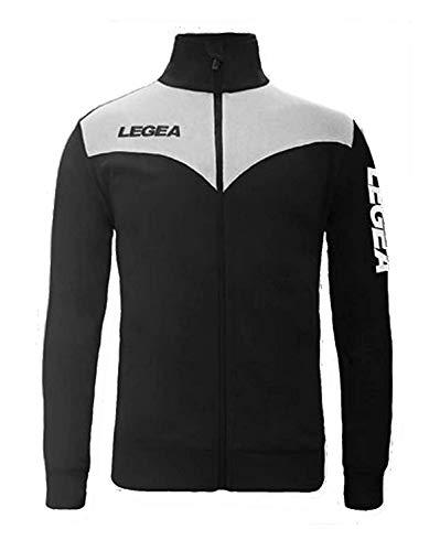 LEGEA Perù - Chaqueta deportiva para hombre, azul/blanco, XL