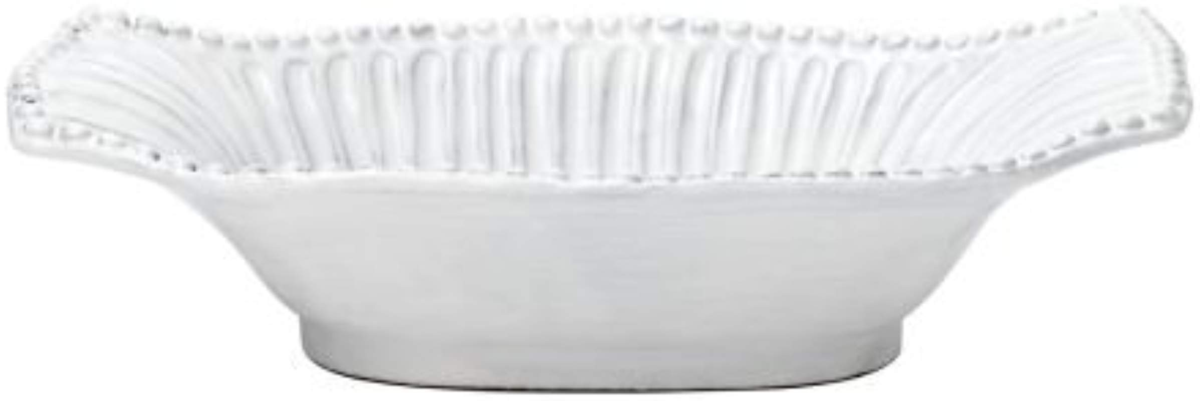 Vietri INC 1154 Incanto Stripe Small Au Gratin Dish White