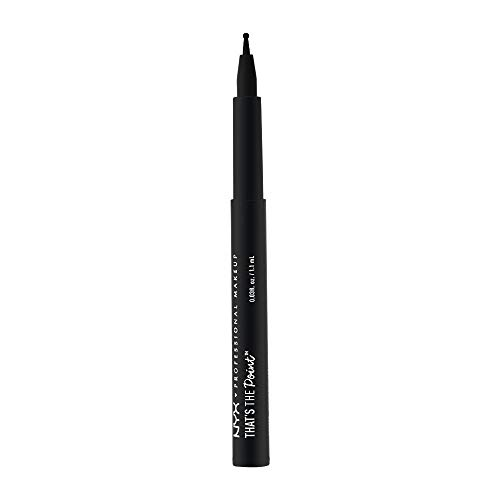 NYX Professional Makeup That's The Point Eyeliner - Eyeliner-Kollektion mit 7 tiefschwarzen Stiften, verschiedene Applikatoren, 1,1 ml, On The Dot