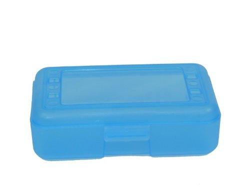 Romanoff Products Inc Romanoff Products Pencil Box School Supplies, 8.5'x5.5'x2.5', Blue