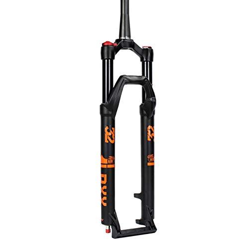 Horquillas de Suspensión Delantera MTB 27,5/29 Pulgadas,Horquilla del Amortiguador Presión Aire Bicicleta Ultraligera Gas Shock XC 1-1/2' (Color : C, Size : 29 Inch)