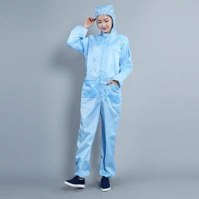 Antistatische Arbeitskleidung, Reinraum, staubdichte Kleidung, saubere Kleidung, staubdichte Arbeitskleidung, Unisex-Arbeitsschutzkleidung Asia Größe XXL