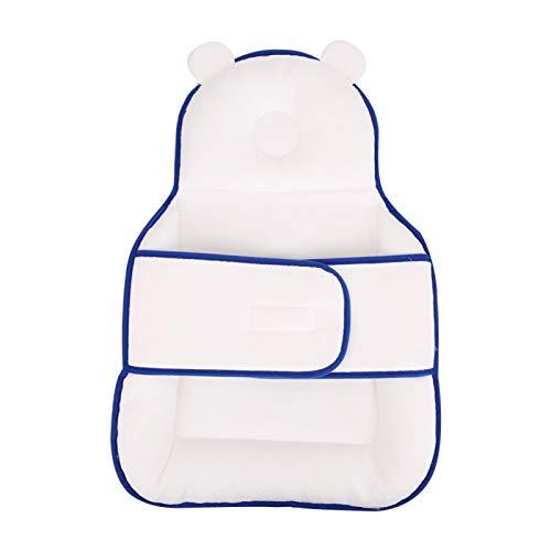 SALUTUYA Almohada de Apoyo para la Cabeza de algodón Azul para bebé niño niña para Dormir bebé(Blue Sleeping Pad)