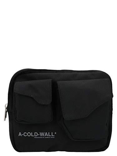 A-COLD-WALL* Luxury Fashion Herren ACWUG006WHLBLAK Schwarz Polyester Schultertasche | Frühling Sommer 20