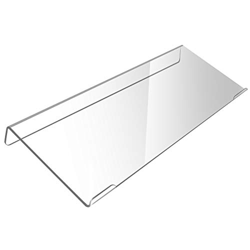WIWAPLEX Computer Tilted Keyboard Holder, Clear Acrylic Premium Stand-PC Keyboard Stand, Universal Elevated Stand for Easy Ergonomic Typing, Computer Gaming and Working at Home and Office