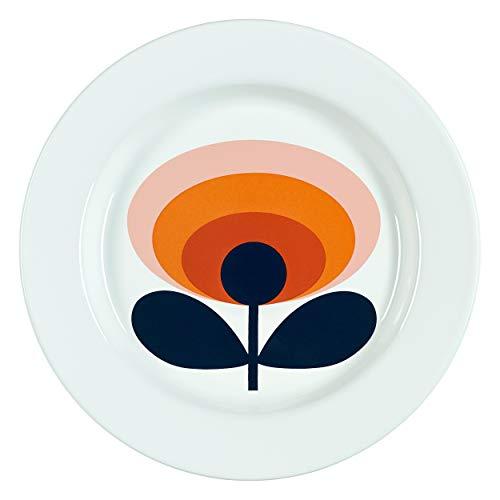 Orla Kiely Assiette en émail, Émail, Orange, 24 x 24 x 2 cm