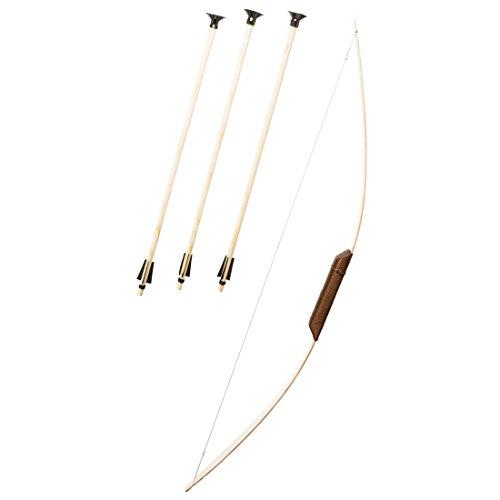 NET TOYS Conjunto de Arco y Flechas - de Madera | Arco y Flechas de Juguete | Accesorio Disfraz Infantil Arquero | Accesorio Traje Flechador