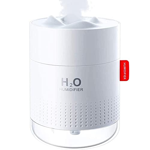 500ml Cool Mist Humidifiers, Waterless Auto-Off, 30 dB Quiet Air Humidifier, Ultrasonic Humidifiers with 10~16 Working Hours Ideal for Bedroom, Baby Room, Living Room.1-Year Replacement Warranty